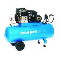 P100/400/3 - Kompresor 100l, 10bar s olejovou náplní - pomaloběžný COMPRECISE