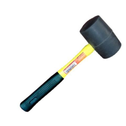 Palička gumová s fiberglassovou rukojetí 55 mm/černá