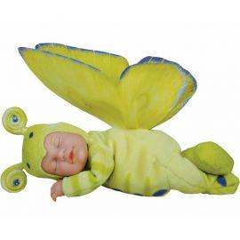 Panenka - Baby Motýl světle zelený spící ANNE GEDDES