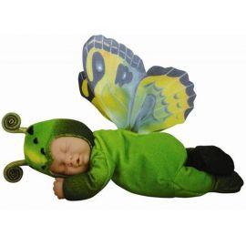 Panenka - Baby Motýl zelený spící ANNE GEDDES