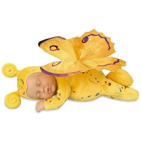 Panenka - Baby Motýl žlutý spící ANNE GEDDES