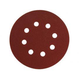 Papír brusný výsek, suchý zip, bal. 10ks, 150mm, P80, 8 otvorů v kružnici 65mm, EXTOL PREMIUM