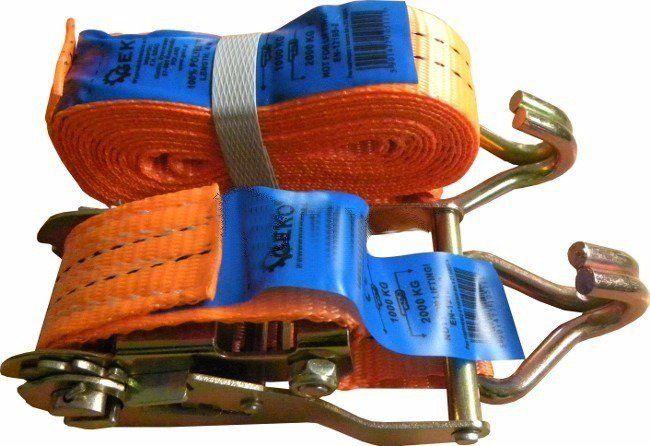 Pás upínací ráčnový s háky, 6m x 35mm, 2t GEKO
