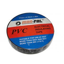 Páska izolační PVC, 17mmx0,18mmx26m, černá MAR-POL