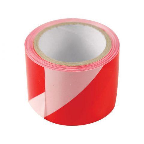 Páska výstražná červeno-bílá, 75mm x 100m, PE, EXTOL CRAFT