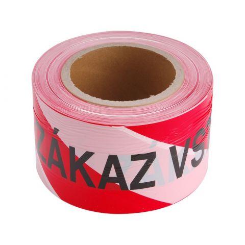 Páska výstražná červeno-bílá ZÁKAZ VSTUPU, 75mm x 250m, PE, EXTOL CRAFT
