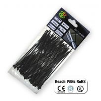 Pásky na vodiče 100 ks, různé délky UV BLACK