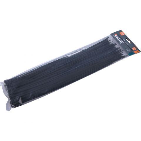 Pásky na vodiče, 4,8x380mm, 100ks, černé, NYLON, EXTOL PREMIUM