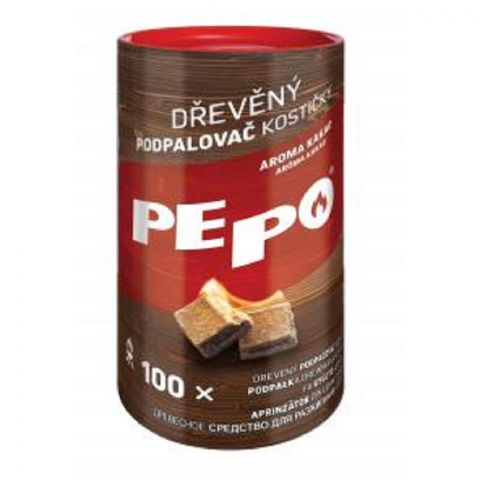 PE-PO dřevěný podpalovač kostičky 100 ks FSC
