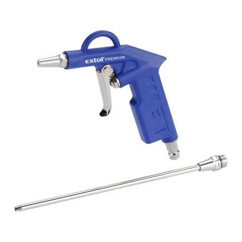 Pistole ofukovací, max. prac. tlak 8bar (0,8MPa), 2 trysky ( krátká a 21cm), BP 210 EXTOL PREMIUM