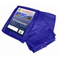 Plachta zakrývací 8x4m, 50g, modrá STANDARD