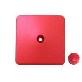Plastová krytka - hranol 90 x 90 mm, červená KAXL