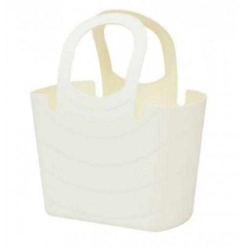Plastová taška 15L LUCY, krémová