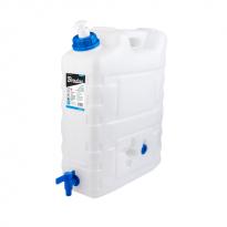 Plastový kanystr na vodu 20l s kohoutkem a dávkovačem mýdla KTZD20