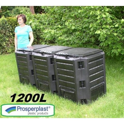Plastový kompostér 1200l, černý MODULE COMPOGREEN