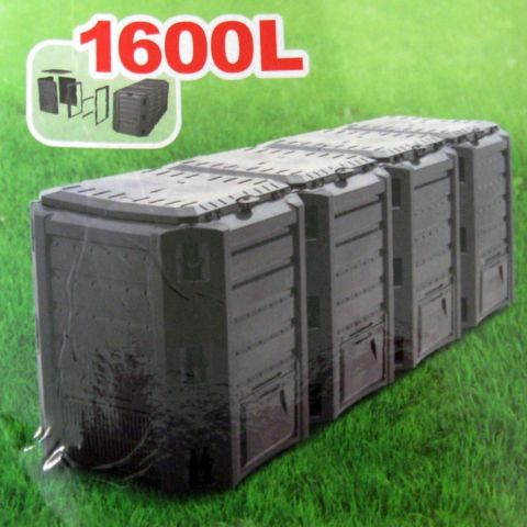 Plastový kompostér 1600l, černý MODULE COMPOGREEN