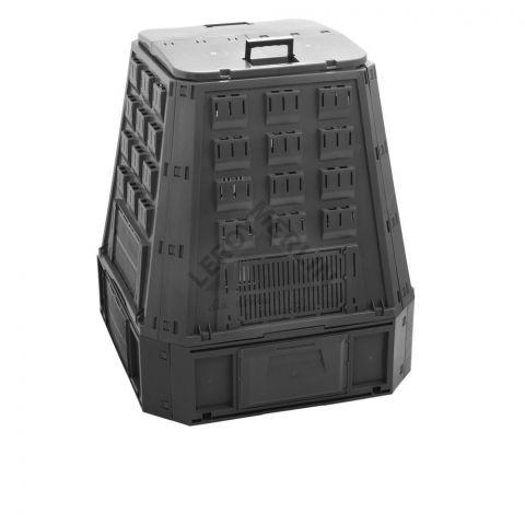Plastový kompostér 600l, černý EVOGREEN