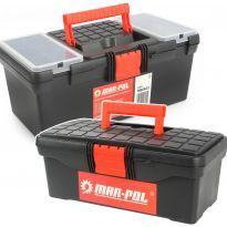 Plastový kufr, box na nářadí 2ks MAR-POL