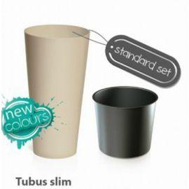 Plastový květináč 15,5L TUBUS SLIM