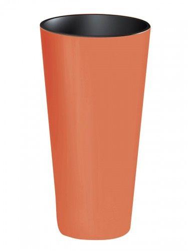 Plastový květináč 15,5L TUBUS SLIME SHINE, korálový Nářadí-Sklad 1   0