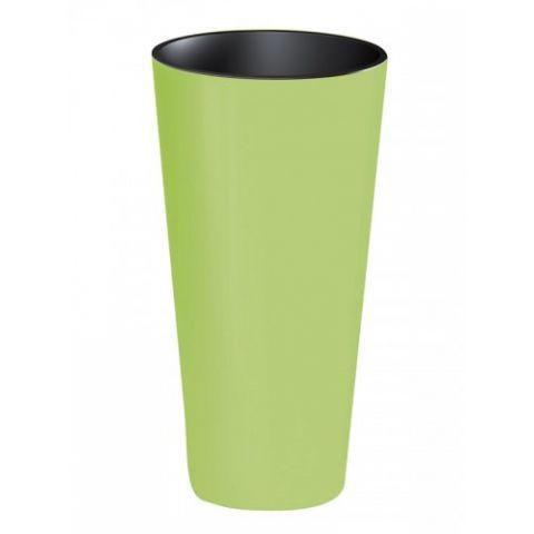 Plastový květináč 15,5L TUBUS SLIME SHINE, limetka