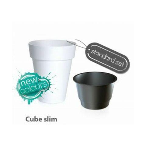 Plastový květináč 55L CUBE SLIM
