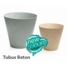 Plastový květináč 7L TUBUS BETON, hnědý