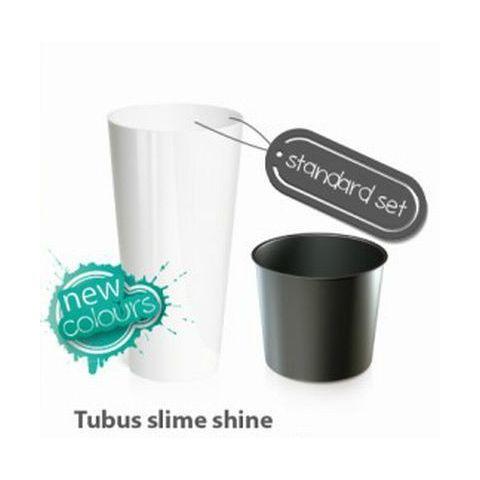 Plastový květináč 8L TUBUS SLIME SHINE