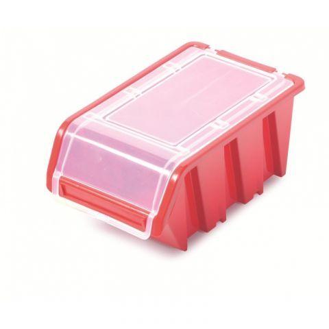 Plastový úložný box s víkem červený TRUCK PLUS KTR16F KISTENBERG