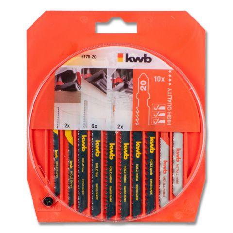 Plátky do přímočaré pily ROUND BOX 10P./S20 KWB