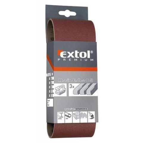Plátno brusné nekonečný pás, bal. 3ks, P40, 75x533mm, EXTOL PREMIUM