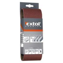Plátno brusné nekonečný pás, bal. 3ks, P80, 75x533mm, EXTOL PREMIUM