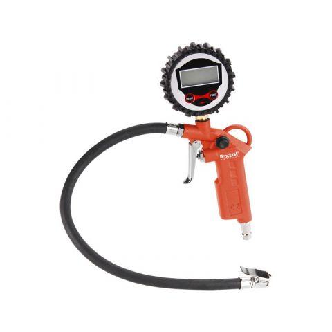 Plnič pneumatik s manometrem, digitální, stupnice - psi, bar, kPa, Kgf/cm2, EXTOL PREMIUM, RP 120 D
