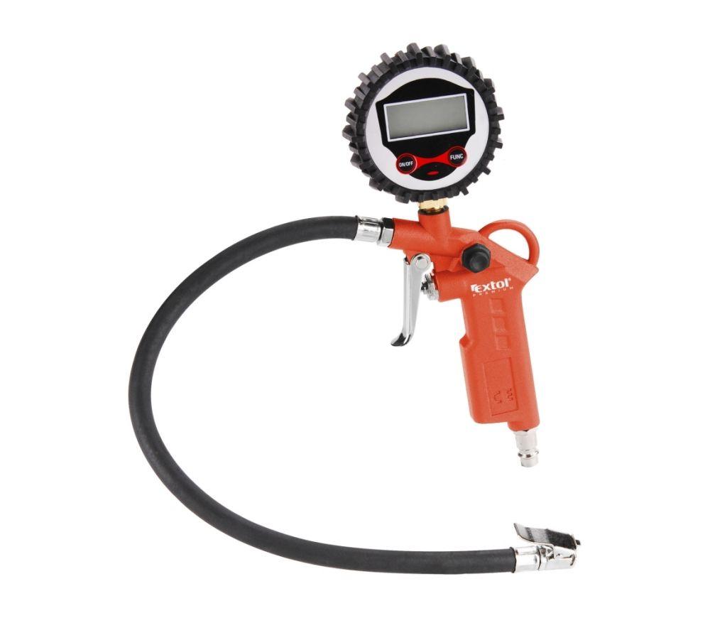 Plnič pneumatik s manometrem, digitální, stupnice - psi, bar, kPa, Kgf/cm2, EXTOL PREMIUM, RP 120 D Nářadí-Sklad 1 | 0.45