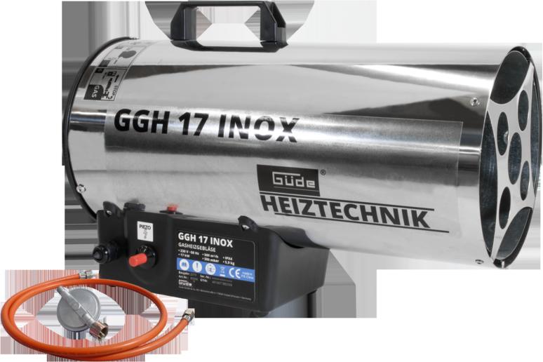 Plynová horkovzdušná turbína GGH 17 INOX GÜDE (85006) Nářadí-Sklad 1 | 8