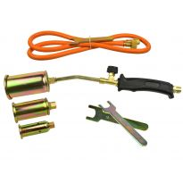 Plynový hořák, 3 koncovky 25,35,50mm, hadice 1,5m GEKO