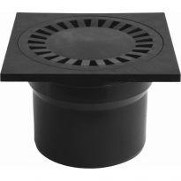 Podlahová vpusť spodní PVS DN 110 C černá