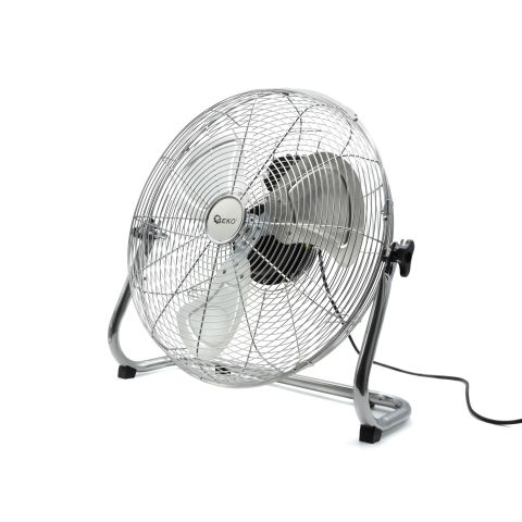 Podlahový ventilátor 120W, 45cm ocelový INOX GEKO