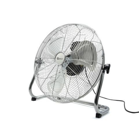 Podlahový ventilátor 135W, 50cm ocelový INOX GEKO