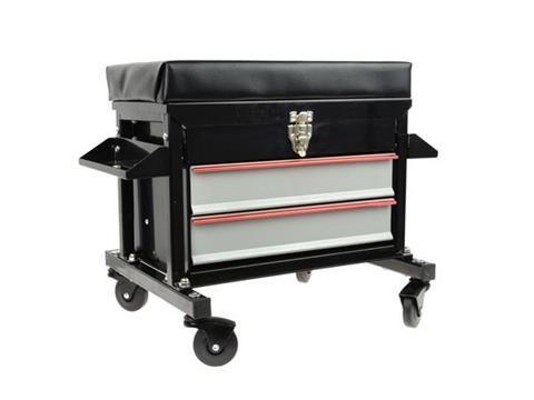 Pojízdný dílenský vozík, sedátko  se zásuvkami GEKO