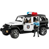 Policejní Jeep Wrangler Rubicon + policista a maják 02526 BRUDER