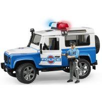 Policejní Land Rover Defender + policista a maják 02595 BRUDER
