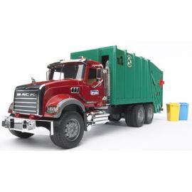 Popelářské auto MACK Granite + popelnice 02812 BRUDER