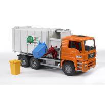 Popelářské auto MAN TGA Lotos s bočním plněním + popelnice 02761 BRUDER