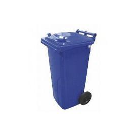 Popelnice hranatá 120l PVC - modrá
