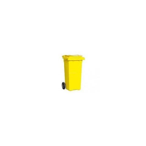 Popelnice hranatá 120l PVC - žlutá