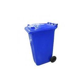 Popelnice hranatá 240l PVC - modrá
