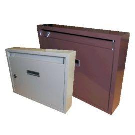 Poštovní schránka kovová hnědá