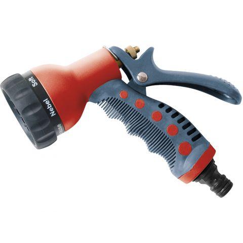 Postřikovač zahradní kovový, mosaz, 7-funkční, EXTOL PREMIUM
