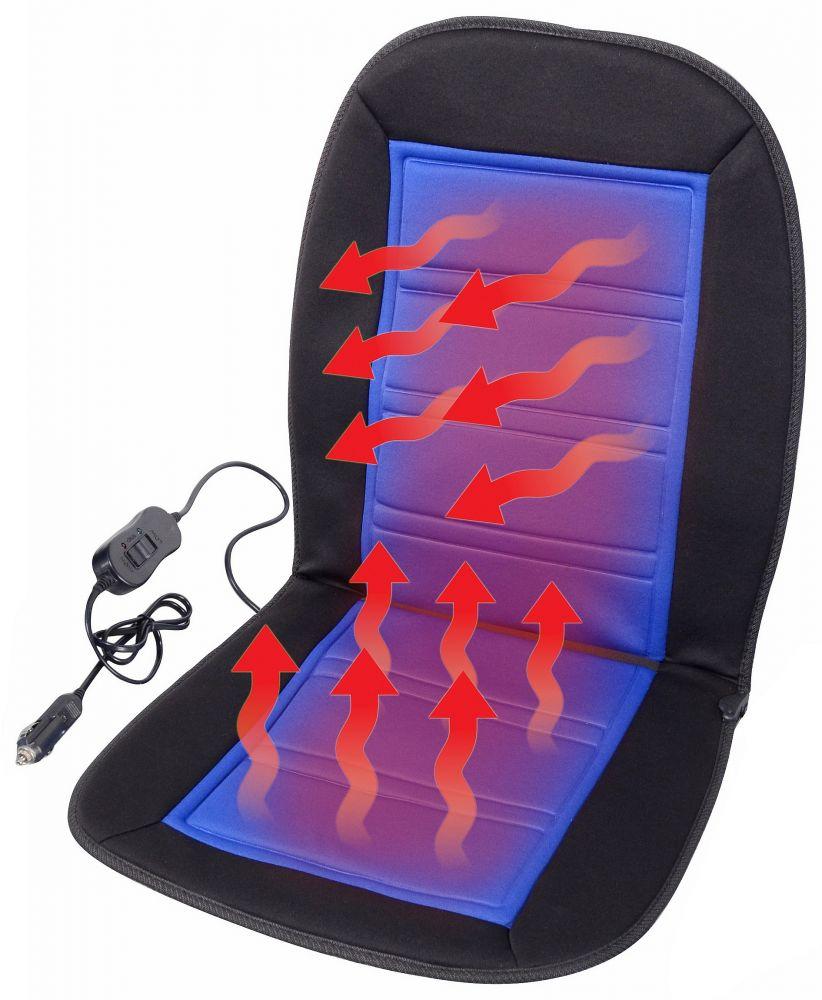 Potah sedadla vyhřívaný s termostatem 12V LADDER modrý *HOBY 0Kg JI-04118